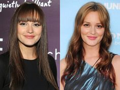 Leighton Meester, celebrity hair color changes, celeb hairstyles, dark brown hair, light brown hair, Leighton Meester hairstyle, Leighton Meester hair color changes