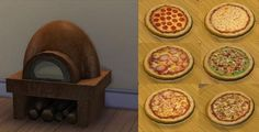 Mod The Sims: Rustic Clay Pizza oven. With pizza recipes! by necrodog • Sims 4 Downloads
