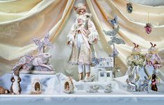 Katherine's Collection spring 2014 beautiful hand crafted dolls and table displays.