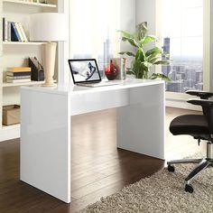 Bridge Office Desk in White