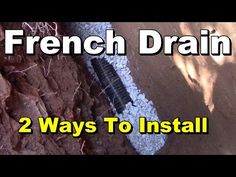 Do it yourself french drain less than 100 home diy projects french drain install for less than diy and save gravel perforated pipe french drain trench and install how to install f solutioingenieria Images
