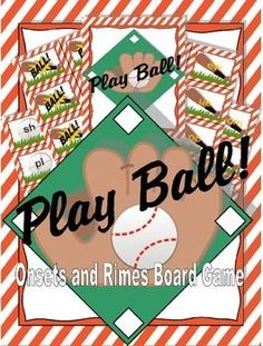 Digital download. $7, available at https://www.teacherspayteachers.com/Product/Play-Ball-Onsets-and-Rimes-Board-Game-2171911 Score a home run while practicing onsets and rimes! Use this board game in classroom centers, homework, home school activities or even for whole class FUN!!