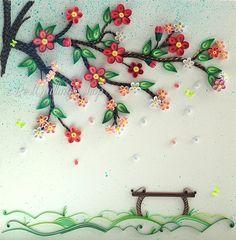 "Original Quilling Art: ""Under the Tree of Luck"" Colourful Paper Art 3D Wall Art"