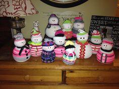Sock Snowmen....love these little guys