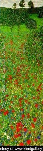 A Field of Poppies - Gustav Klimt - www.klimtgallery.org