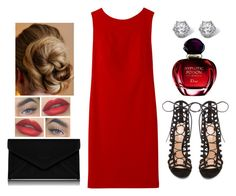 """Red Poison"" by teodoramaria98 ❤ liked on Polyvore featuring Gianvito Rossi, L.K.Bennett, Palm Beach Jewelry, Myla, Winser London and Christian Dior"