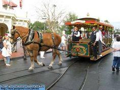 Magic Kingdom Main Street USA Performers on Trolley