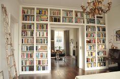 Library Bedroom, Home Library Rooms, Home Library Design, Home Libraries, Home Room Design, House Design, Floor To Ceiling Bookshelves, Bookshelves Built In, Built Ins