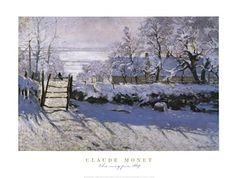 The Magpie, Art Print by Claude Monet