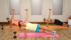 Your Workout: No one move will make back fat disap… Bye-Bye, Bra Bulge! Your Workout: No one move will make back fat disappear – decreasing the overall percentage of body fat is key for that. Fitness Workouts, Sport Fitness, At Home Workouts, Fitness Weightloss, Chest Workouts, Bye Bra, Back Fat Workout, Plank Workout, Workout Bauch