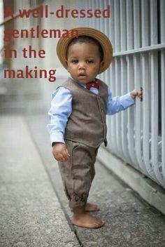 Little gentleman in the making
