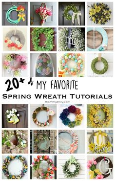 I love decorating for spring! There are a ton of DIY spring decor ideas, this is a collection of the best Easter and Spring wreath tutorials.