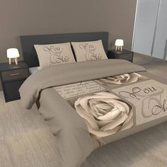 Dekbed -  Ambianzz Bedding You and Me - Taupe - Dekbed-discounter