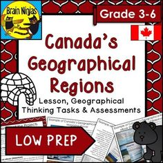 Canada Regions Research Projects Map Activities, Hands On Activities, Teaching Social Studies, Teaching Resources, Teaching Ideas, Physical Geography, I School, School Stuff, School Ideas