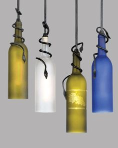 Светильник из бутылки своими руками. 8  красивых идей.