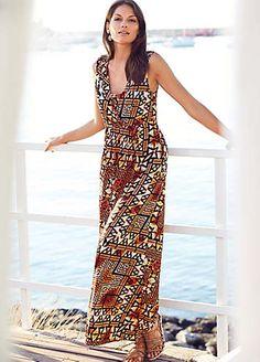 Ethnic Print Maxi Dress  #ShipToShore