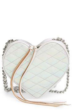 Such a sweet little opal heart crossbody.
