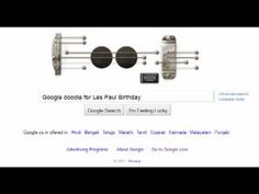 Les Paul's special Playable electric guitar Google doodle on Google.com ...