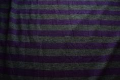 Purple & Charcoal Gray striped Jersey Knit Fabric Stripes