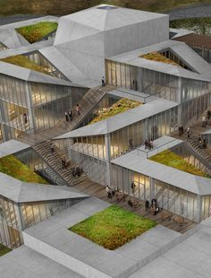 Istanbul Gülsuyu Cemevi and Cultural Center Competition Announces Finalists,Terraced Landscape. Image Courtesy of Melike Altınışık + Gül Ertekin