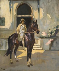 """Sir John Lavery R.A. (1856-1941)* was a well-known Irish-born British painter*, associated with the Glasgow Boys*, a group of artists who followed the French """"En plein air*"""" movement. Sir John Lavery R.A. was born in Belfast in 1856 and educated in Glasgow, London and Paris.  For biographical notes -in english and italian- and other works by Lavery see: Sir John Lavery R.A. 