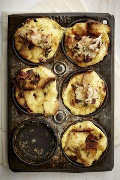 Mini Savoury Bread Puddings