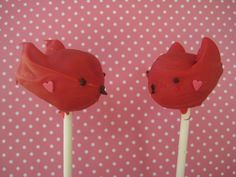 Bubble and Sweet: Little Red Bird Cake Pops