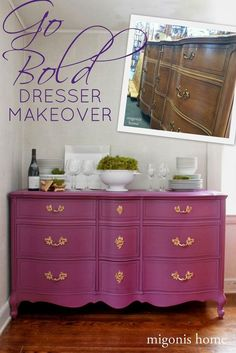 Dresser makeover done in Perfection using Country Chic Paint Refurbished Furniture, Repurposed Furniture, Furniture Makeover, Painted Furniture, Painted Dressers, Plywood Furniture, Furniture Projects, Home Furniture, Rustic Furniture