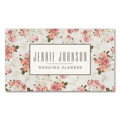 Pink Roses Vintage Floral Pattern Business Card. I love this design! It is available for customization or ready to buy as is. All you need is to add your business info to this template then place the order. It will ship within 24 hours. Just click the image to make your own!