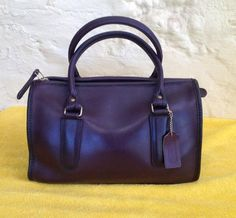 Round She Goes - Market Place - Vintage 1980's COACH Leather Burgundy Madison Speedy Doctor Satchel Made in NYC