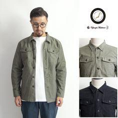 Upscape Audience パウダースノー バックサテン ファティーグシャツジャケット 日本製 メンズ