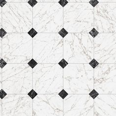 Black And White Marble Floor With The White Walls And Trim Work Perfectly Timeless