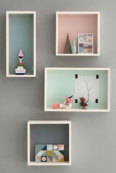Pastel box shelves