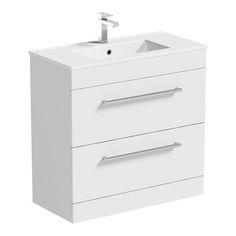 Orchard Derwent White Vanity Drawer Unit And Basin Sink Vanity Unit, Vanity Basin, Vanity Drawers, Bathroom Vanity Units, Small Bathroom, Bathroom Ideas, Bathrooms, Freestanding Taps, White Bathroom Furniture