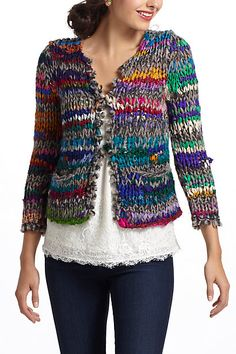 Pallava Cardigan #anthropologie. This would be so easy to make.