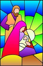 Resultado de imagen para vitrales navideños de papel Stained Glass Quilt, Faux Stained Glass, Stained Glass Projects, Stained Glass Patterns, Christmas Rock, Christmas Nativity, Christmas Projects, Stained Glass Christmas, Church Banners