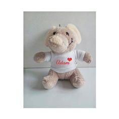 Personalised Elephant keyring, Animal keyring, Soft Toy Keyring by cjcprint on Etsy