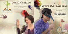 Flyer de divulgação para espetáculo no Sesc Santo Amaro