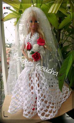 #Vestido #Noiva #Crochet #Barbie #Muñeca #Doll rachelcrochet.wordpress.com #Cléa5 RaquelGaucha