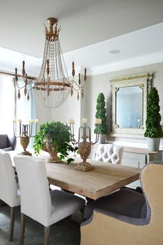 Love the chandelier.See Gabby furniture in Young House Love.featuring an Ava, Avignon, Ariel and Florence Gabby Furniture, Dining Room Decor, Furniture, Beautiful Dining Rooms, Home, Interior, Dining Room Remodel, Home Decor, Dining Room Inspiration
