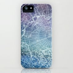Polar #Purples #iPhone & iPod #Case map polar pole arctic #stars