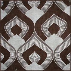 1970's Geometric Thick Upholstery Fabric by Something Fine, via Flickr