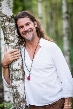 Kirtan Musician and inspiration Kevin James Caroll looking great with his mala on! Bali