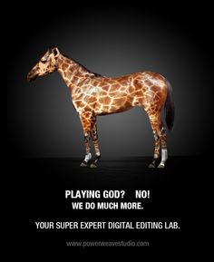 Playing God? No! We do much more. Your super expert digital editing lab.