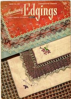 Tatting Crochet Booklet Handkercheif Edgings By Coats and Clark 1951 | QuiltTops - Books on ArtFire