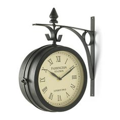 Create your own bistro atmosphere with this hanging clock - invite your friends over and watch the time fly by!