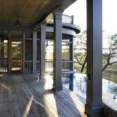 Isle of Palms Shingle Style — Herlong & Associates Architecture + Interiors dark trim