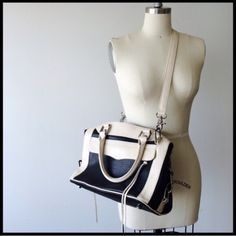 Rebecca Minkoff Purse Carried Once!!! Black & Cream. Gorgeous & Unique. All Around Awesome Bag. Rebecca Minkoff Bags