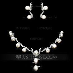 Jewelry - $26.99 - Elegant Alloy With Pearl Women's Jewelry Sets (011017875) http://jjshouse.com/Elegant-Alloy-With-Pearl-Women-S-Jewelry-Sets-011017875-g17875