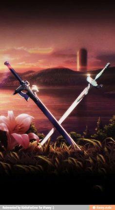 Kirito and Asuna's swords<3